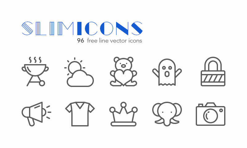 Freebie: Slimicons Line Vector Icons