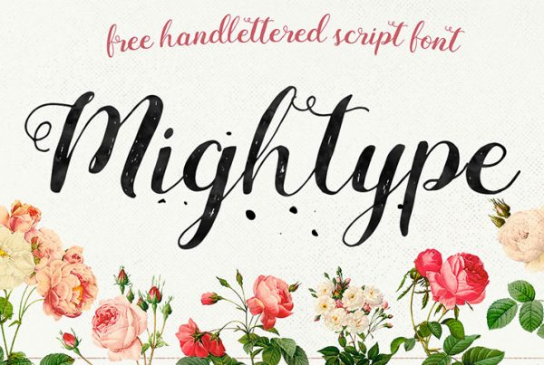 The Art of Modern Typography-Mightype-Script---Free-Handlettered-Font