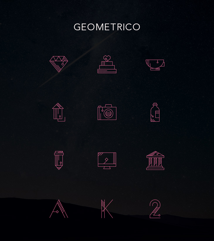 Freebie: Geometrico Line Icons