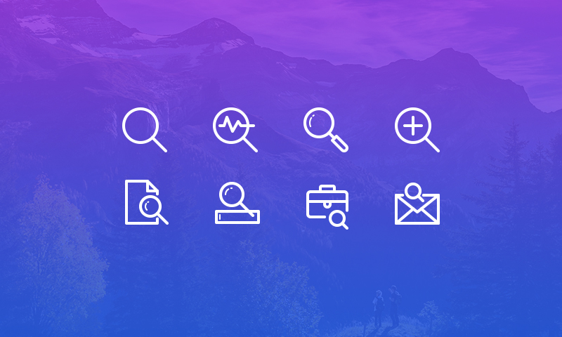 Freebie: Search Vector Line Icons Set
