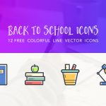 Freebie: Back to School Colorful Icons