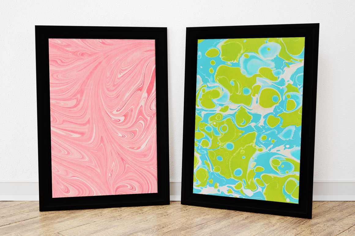 marbling-textures-frames