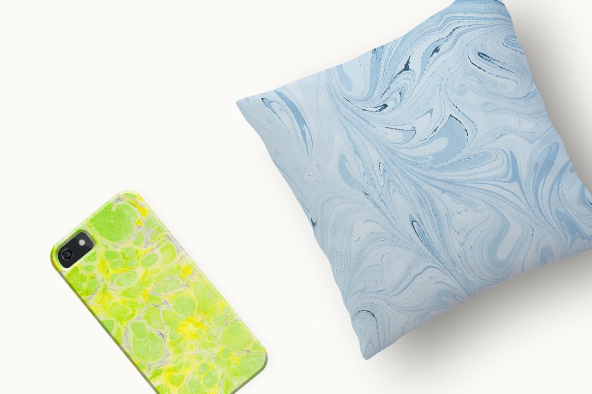 marbling-textures-iphone-pillow