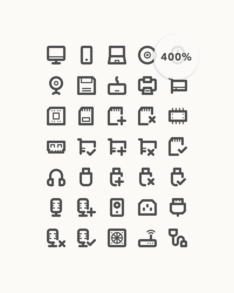 Freebie: Computer Line Icons