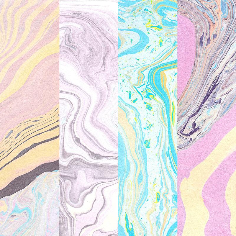 Freebie: Suminagashi Paper Textures