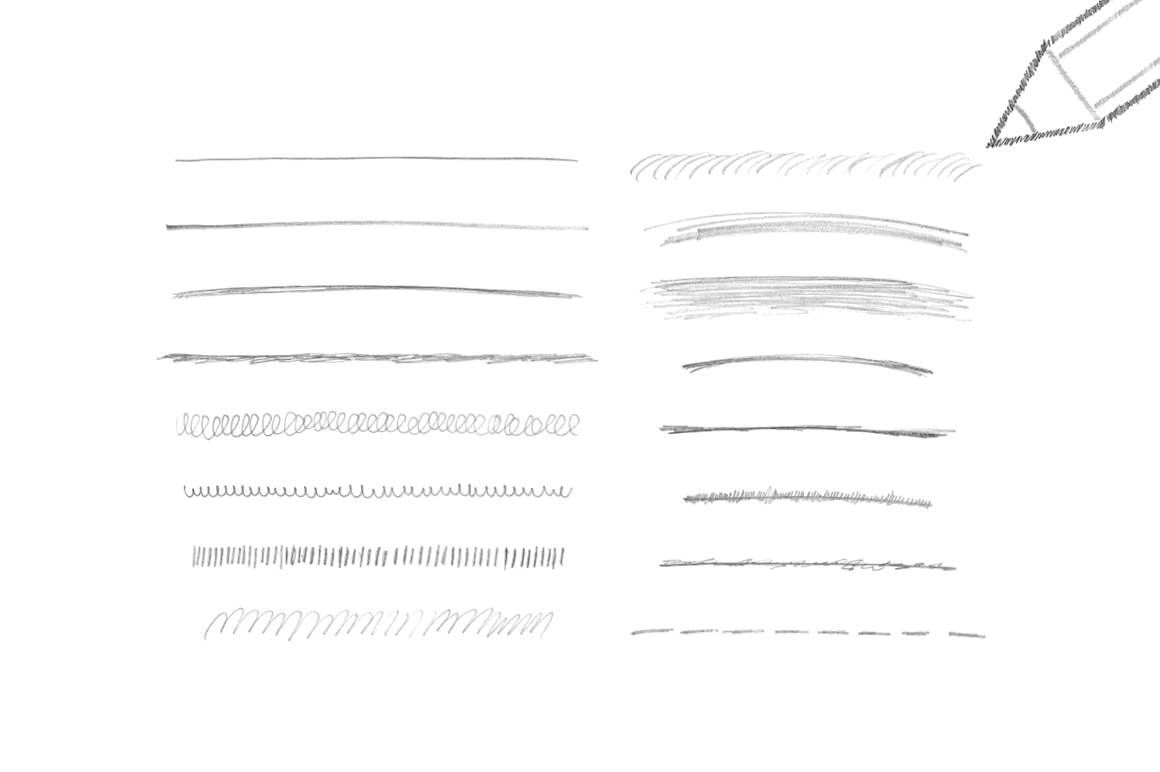 Realistic Pencil Brushes