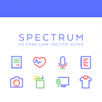Freebie: Spectrum Line Icons