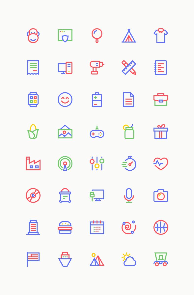 Freebie: Spectrum Line Icons