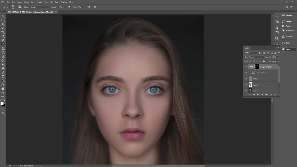 how to use dodge and burn in photoshop