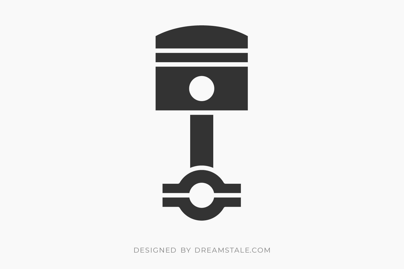 Engine Piston Free SVG