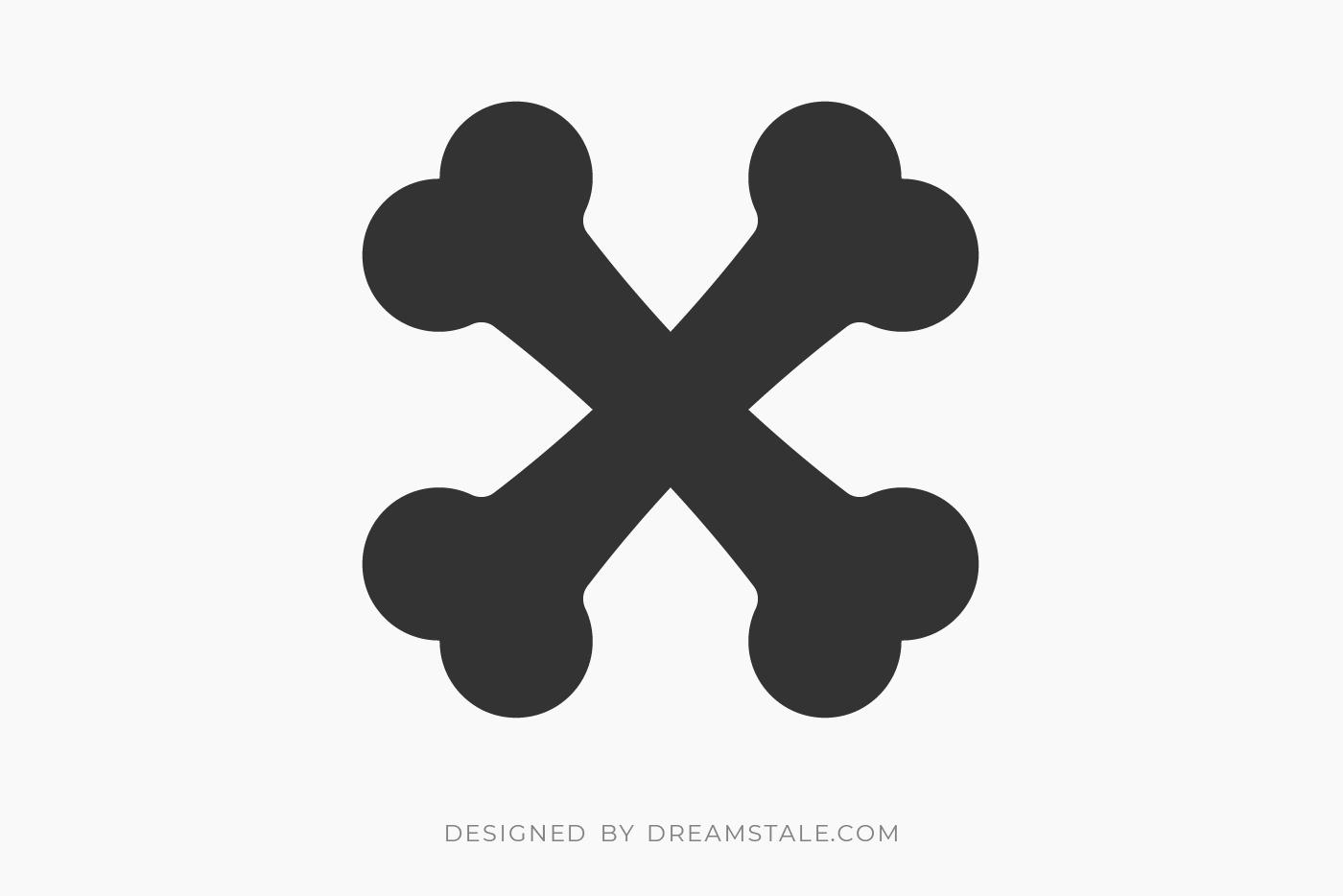 Crossed Bones Free SVG