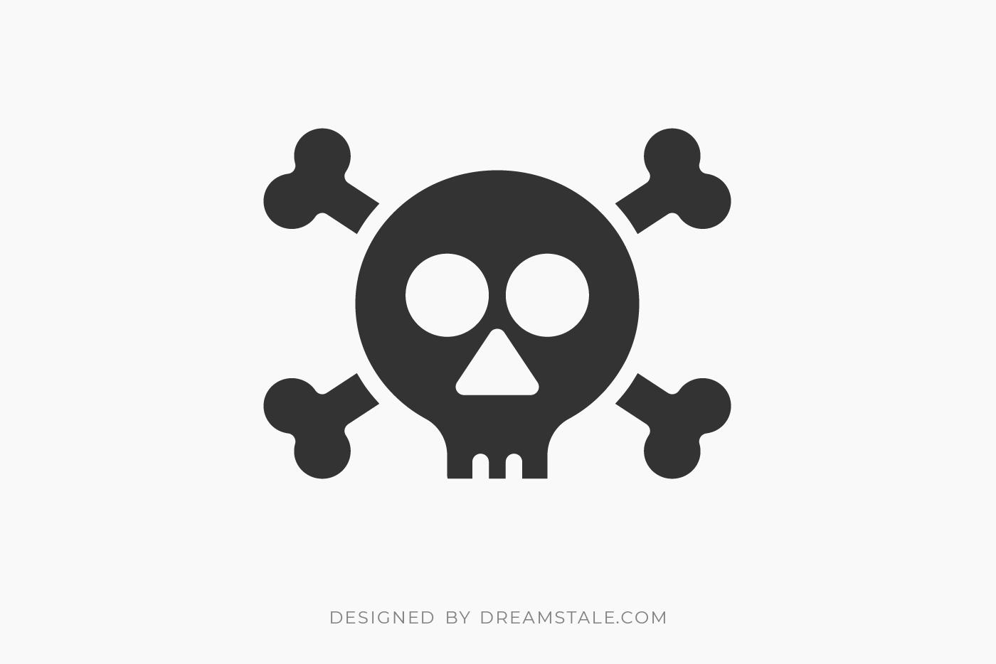 Skull & Crossbones Clipart Free SVG