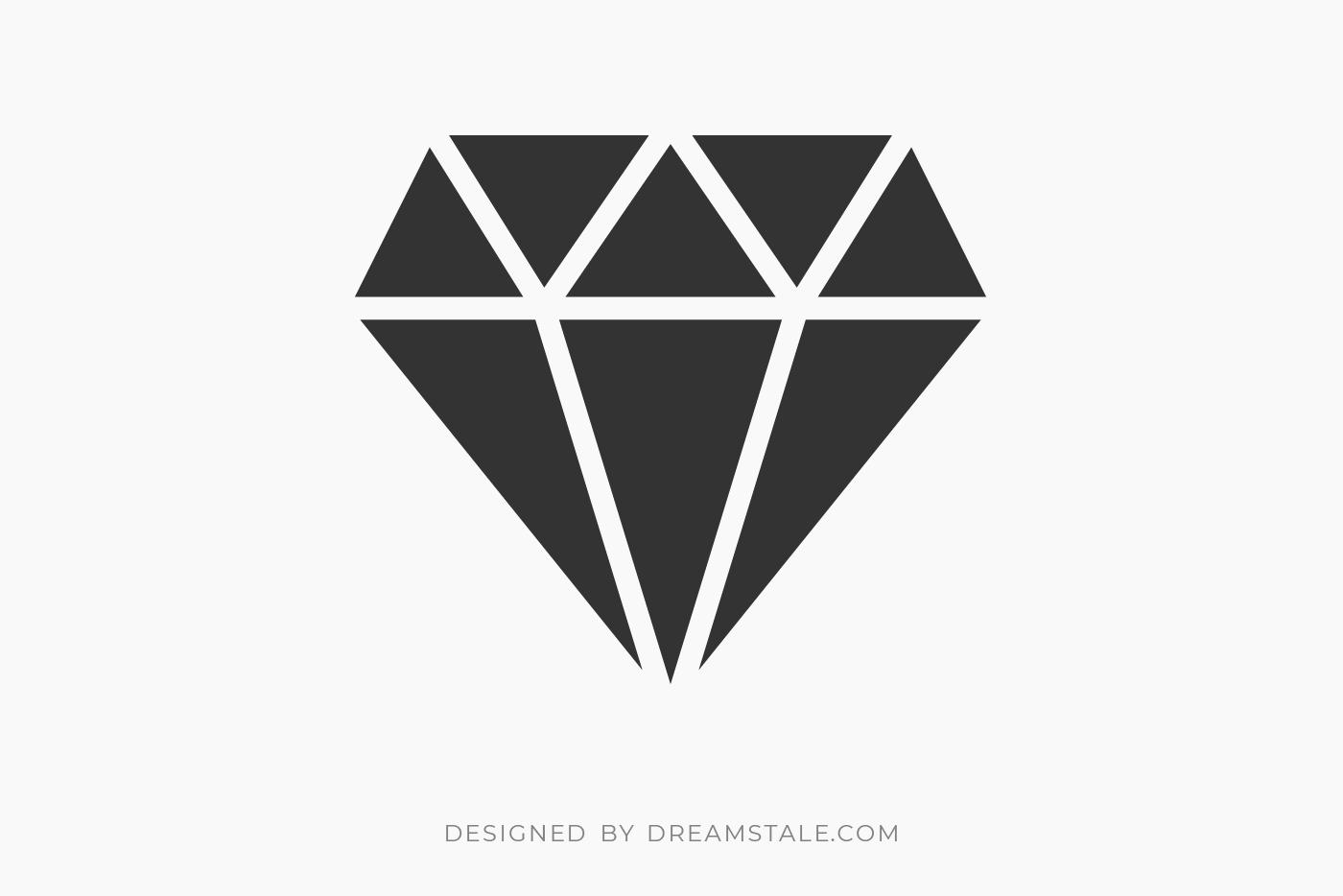 Diamond Stone Clipart Free SVG