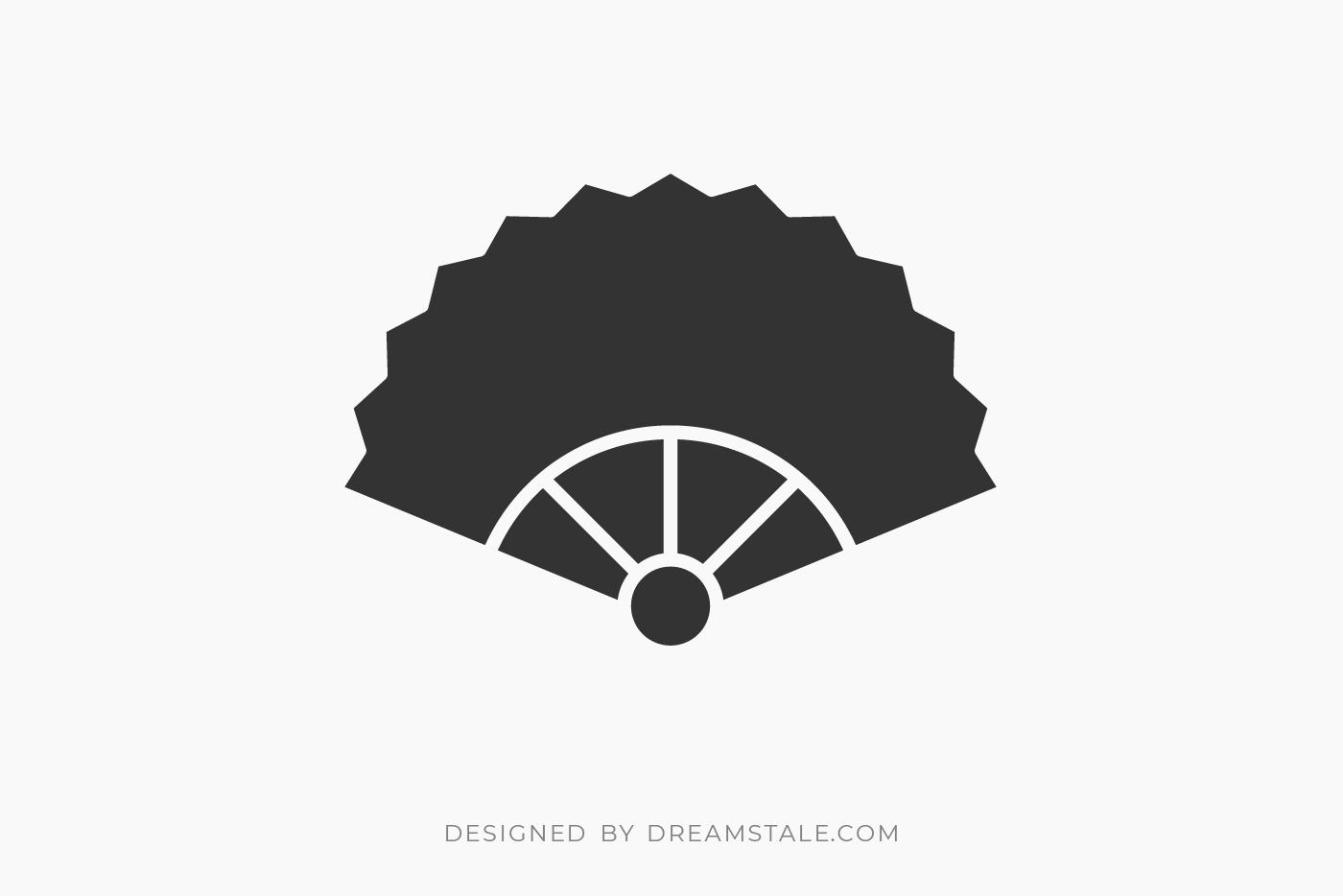 Hand Fan Clipart Free SVG