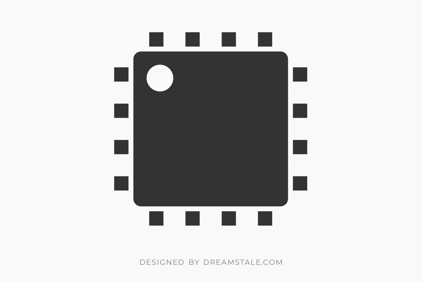 Microchip CPU Clipart Free SVG
