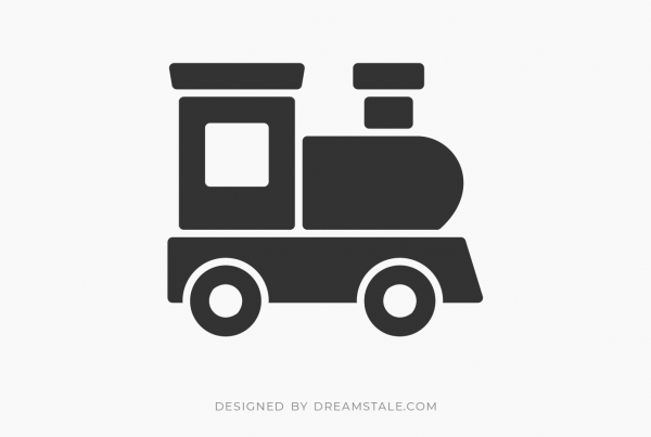 Toy Train Clipart Free SVG